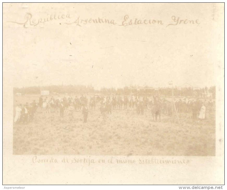 ESTACION O IRENE HOY PARTIDO DE CORONEL DORREGO ESTANCIA DEL SR. AMBROSIUS CIRCA 1895  DANISH MIGRATION TO ARGENTINA - Argentinië