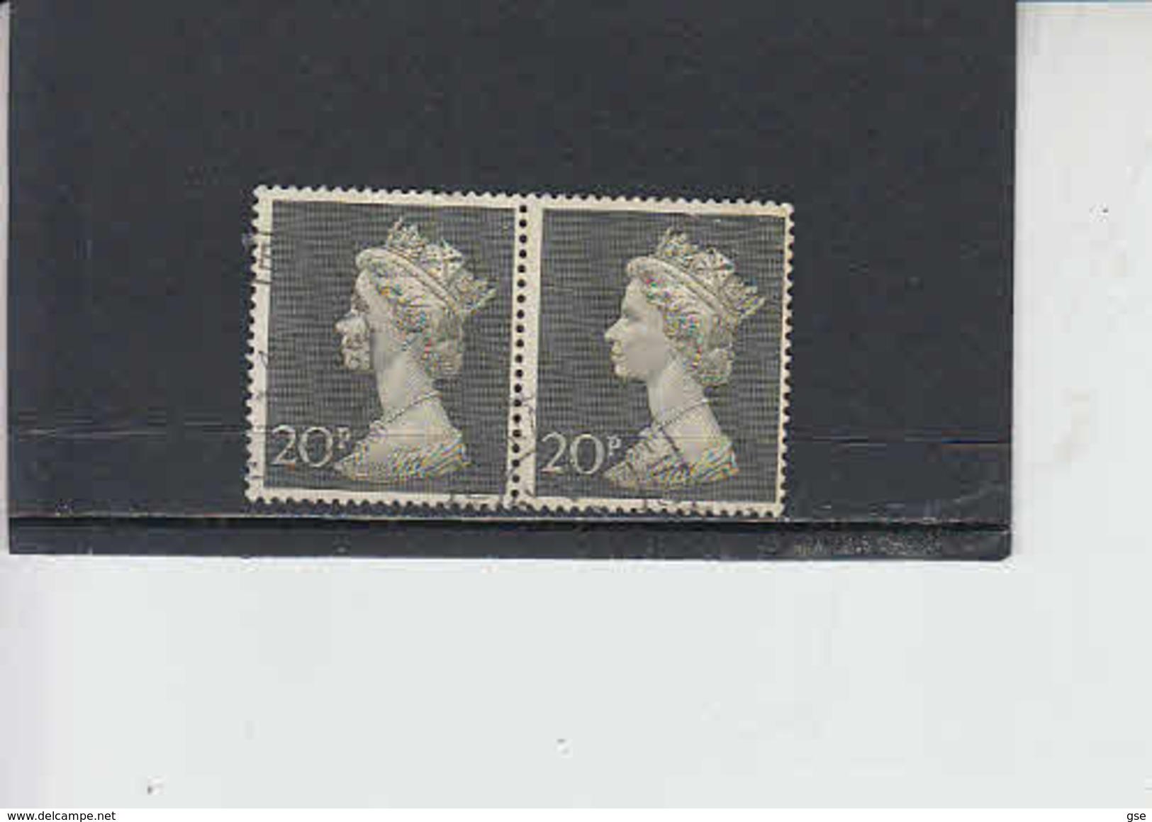 GRAN BRETAGNA  1971 - Unificato   619 (x 2)° - Elisabetta II - 1952-.... (Elisabetta II)