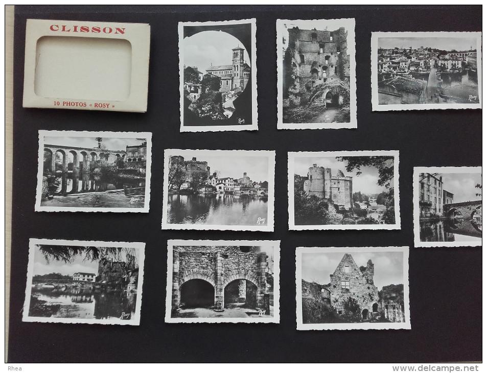 44 - CLISSON - Pochette De 10 Petites Vues De Clisson - 1952 - Vieux Papiers