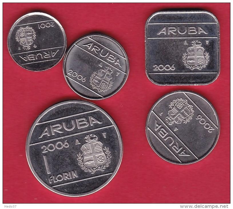 Aruba - Lot De 5 Monnaies - Neuves - Autres – Amérique