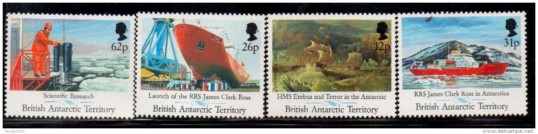 1991 British Antarctic Territory  Research  Complete Set Of 4  MNH - Ungebraucht