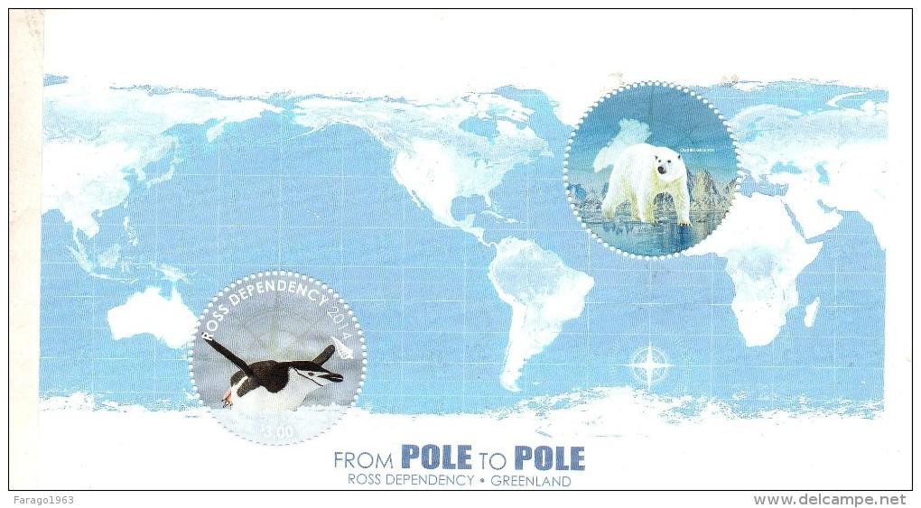 2012 Ross Dependency Pole To Pole Polar Bear And Penguins Set  Of 1 Sheet MNH - Nuovi