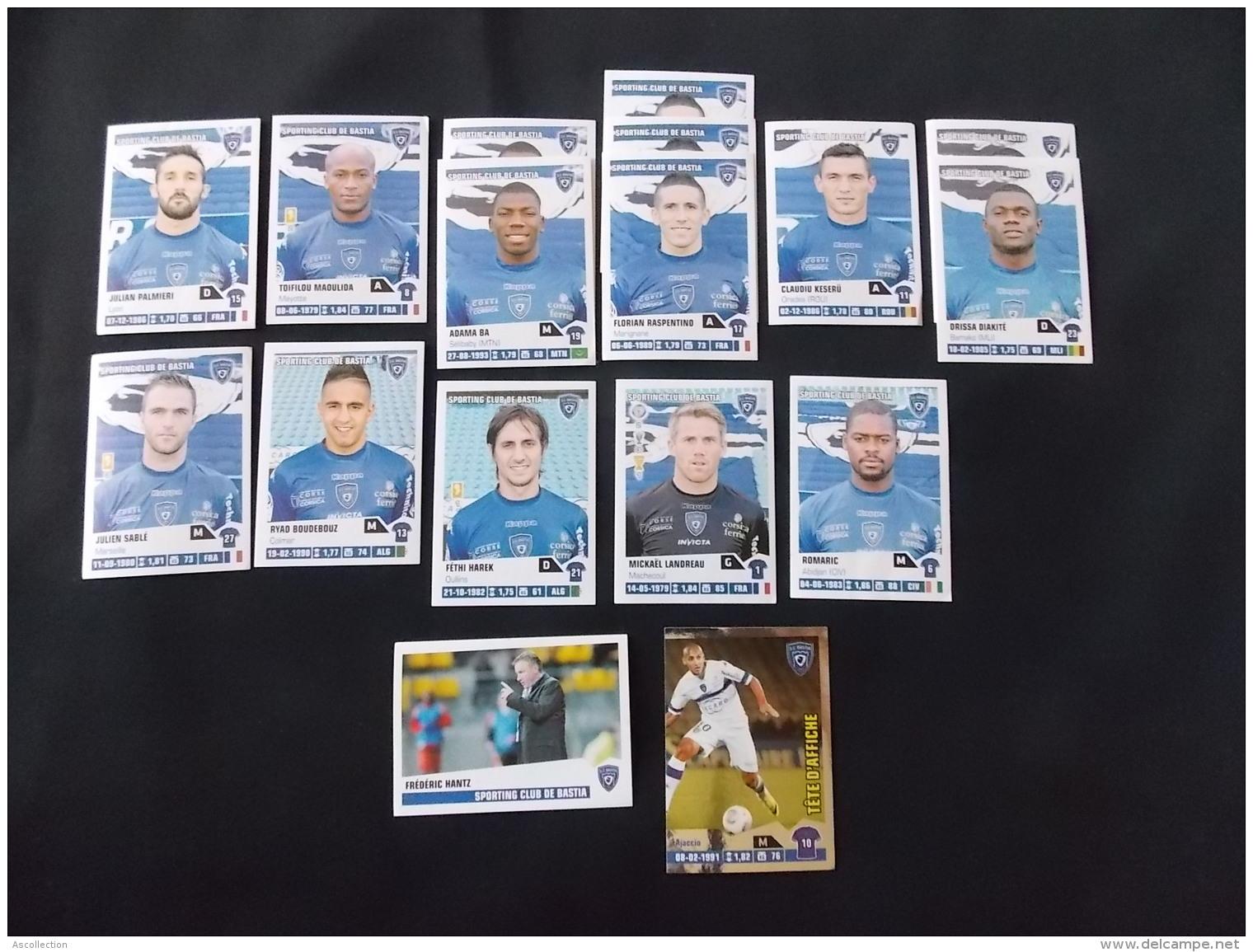 Panini Foot 2013 14 Lot De 17 Stickers Sporting Club De Bastia - Edition Française