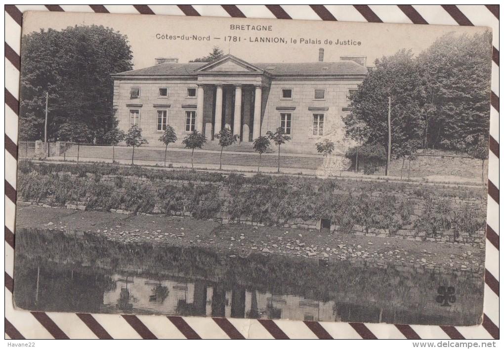 6AI3937 LANNION LE PALAIS DE JUSTICE  2 Scans - Lannion