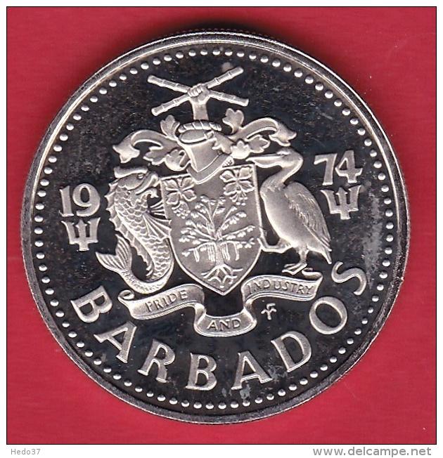 Barbades - 25c - 1974 - Barbades