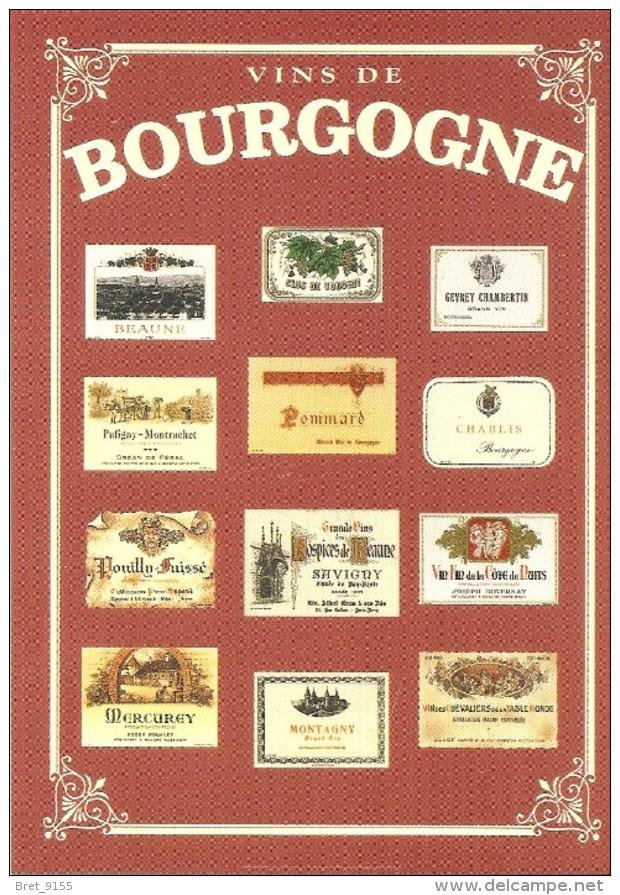 VINS DE BOURGOGNE COLLECTION PRIVEE CARTEXPO REPRODUCTION INTERDITE N° 10138 - Advertising