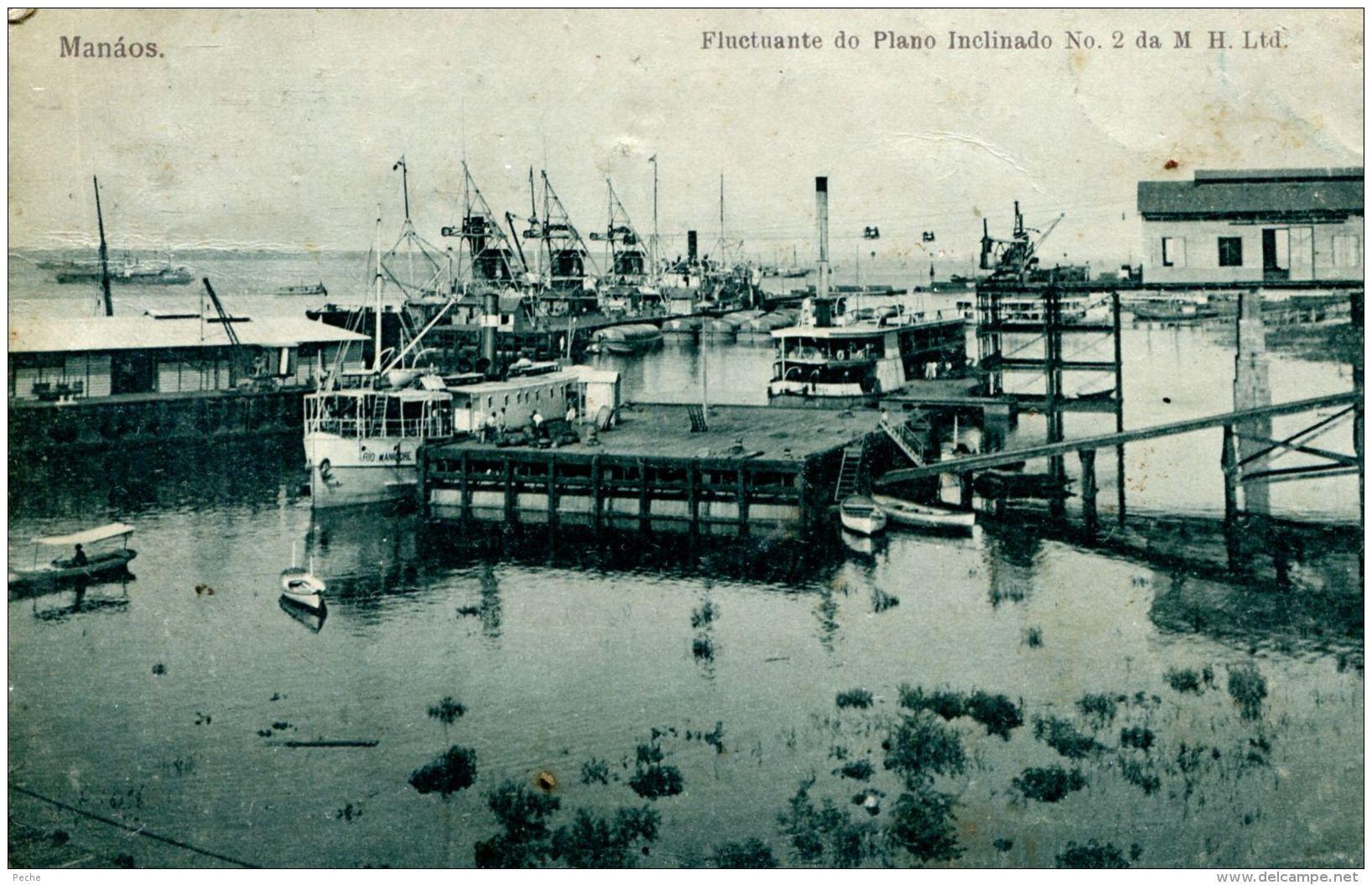 N°51107 -cpa Manaos -fluctuante Do Plano Inclinado- - Manaus