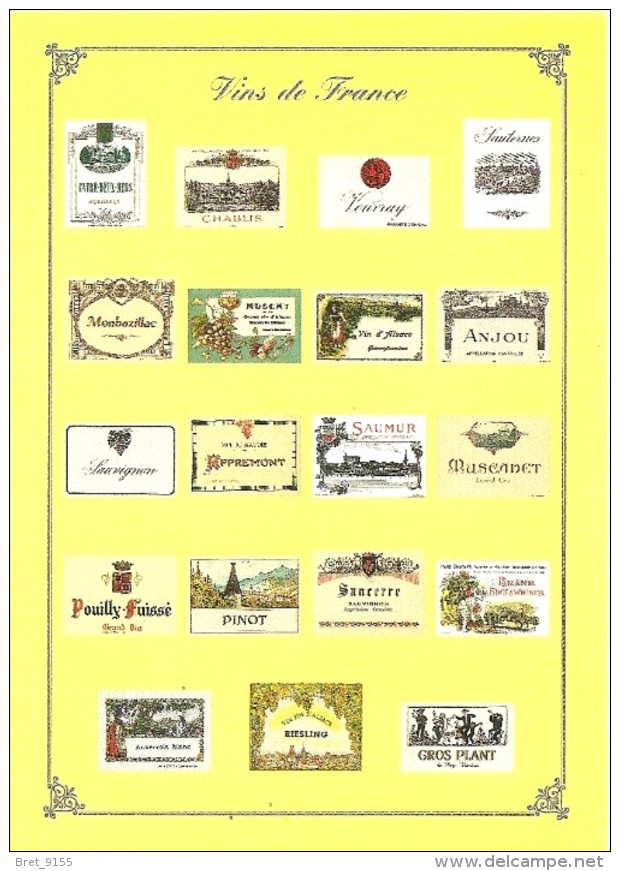 VINS BLANC DE FRANCE COLLECTION PRIVEE CARTEXPO REPRODUCTION INTERDITE N° 10144 - Advertising