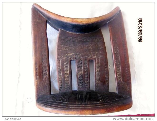 Ethiopia: Headrest /appuie-tête Kambatta - Afrikanische Kunst