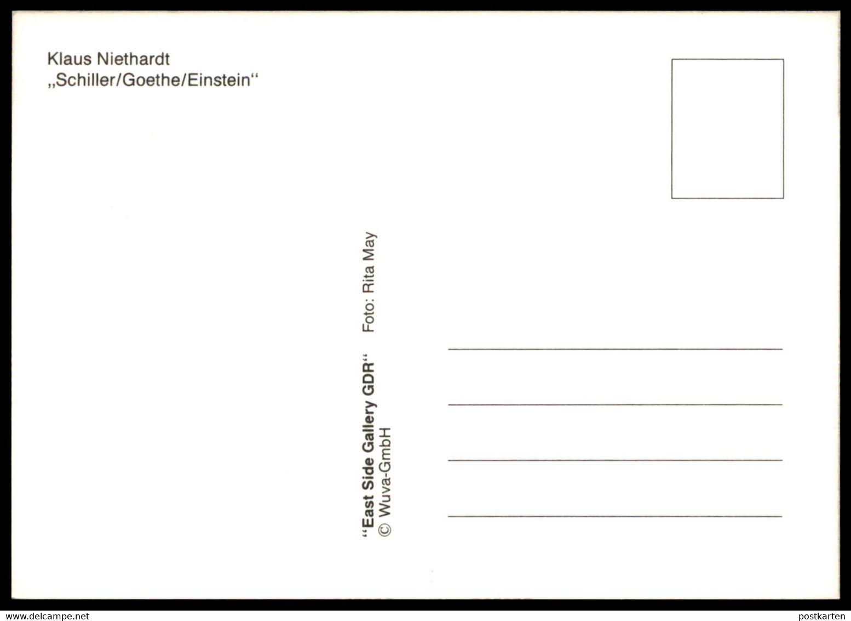ÄLTERE POSTKARTE KLAUS NIETHARDT SCHILLER GOETHE EINSTEIN BERLINER MAUER THE WALL LE MUR BERLIN Art Cpa AK Postcard - Berliner Mauer