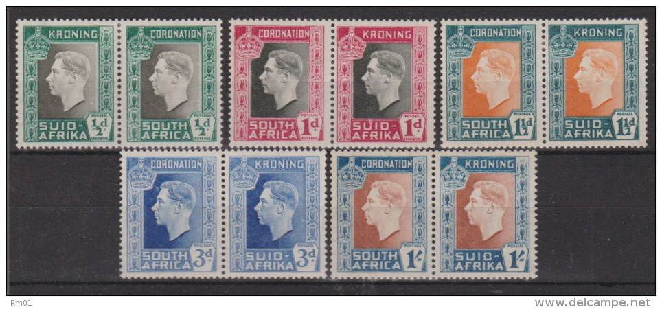 SOUTH AFRICA 1937 Nr 78/97 PAIRS  X   MH  KLEVERTJE - Timbres