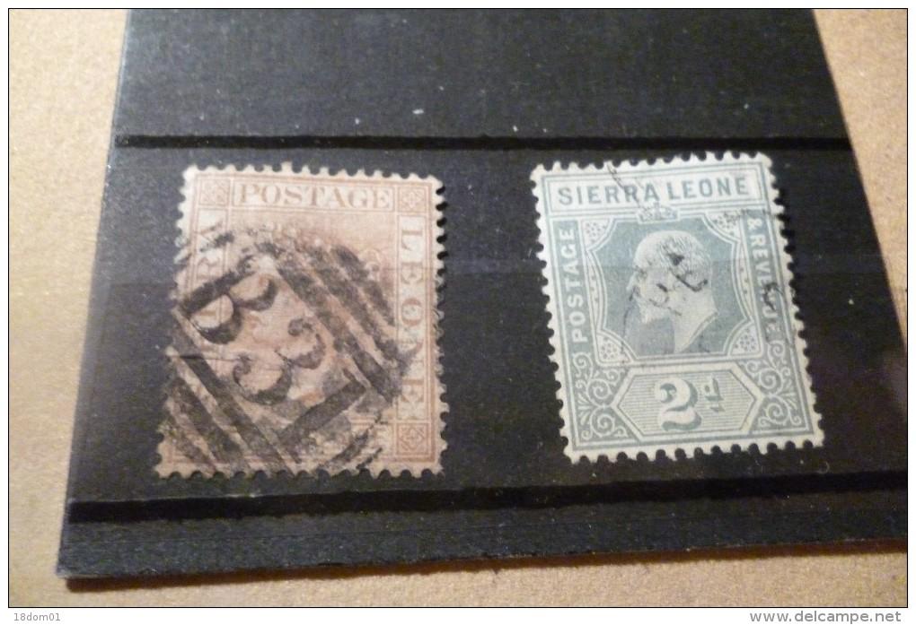 2 Timbres Sierra Léone, Le Premier 1872 Beau Cachet Le Deuxiéme à Identifier - Sierra Leone (...-1960)