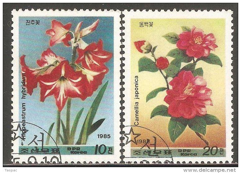 1985 Mi# 2679-2680 Used - Flowers - Korea, North