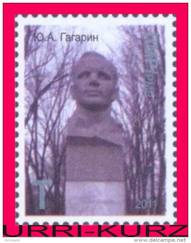 TRANSNISTRIA 2011 Space 1-st Soviet Cosmonaut Astronaut Gagarin Monument Bust In Tiraspol 2v MNH - Space