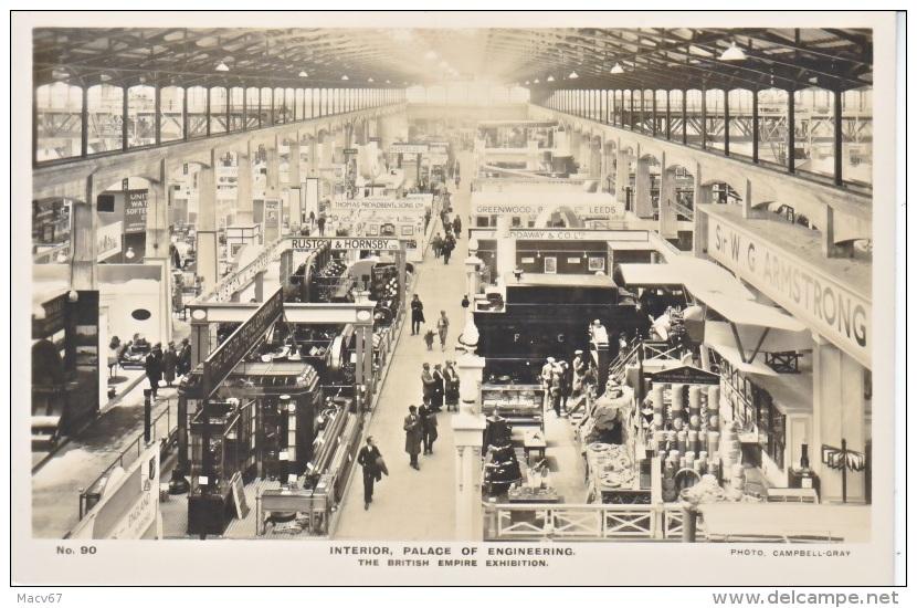 BRITISH  EMPIRE  EXPO.  REAL  PHOTO  PALACE  OF  ENGINEERING  1924  * - 1902-1951 (Kings)
