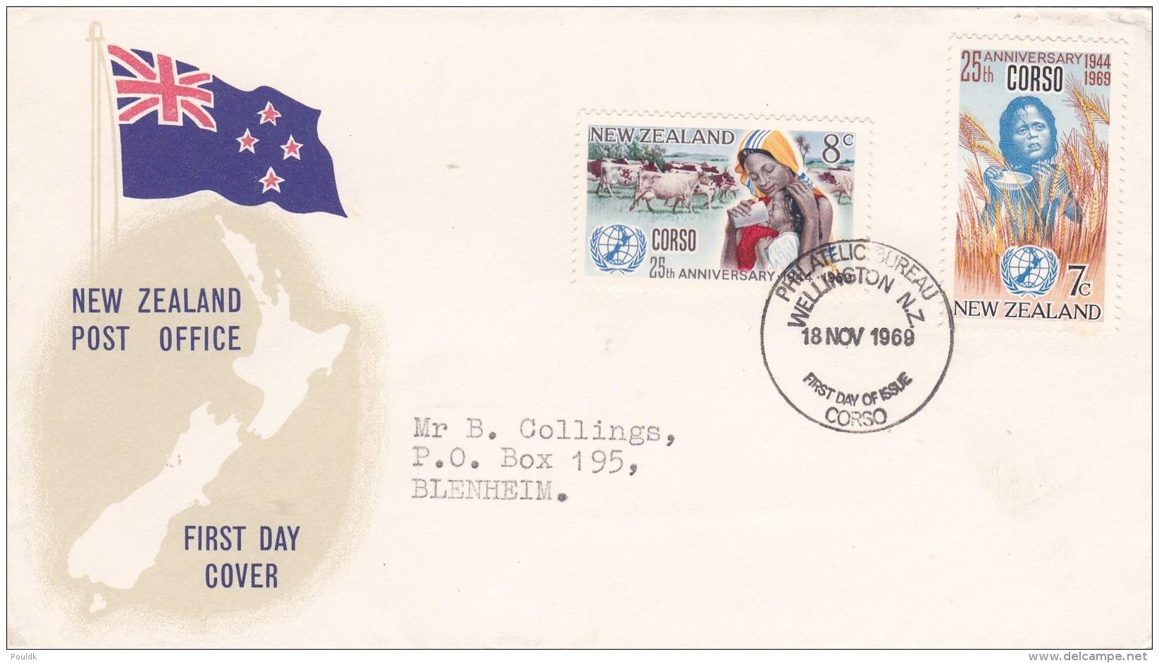 New Zealand FDC 1969 CORSO  (G86-44) - FDC
