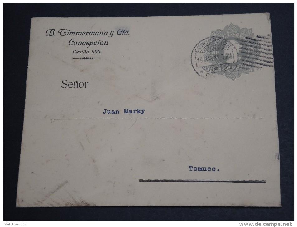 CHILI - Entier Postal De Casilla Pour Temuco En 1912 - A Voir - L  3416 - Chile