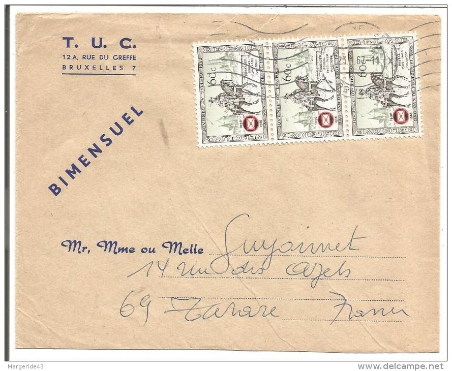 BELGIQUE LETTRE DE BRUXELLES POUR LA FRANCE 1967 - Marcophilie