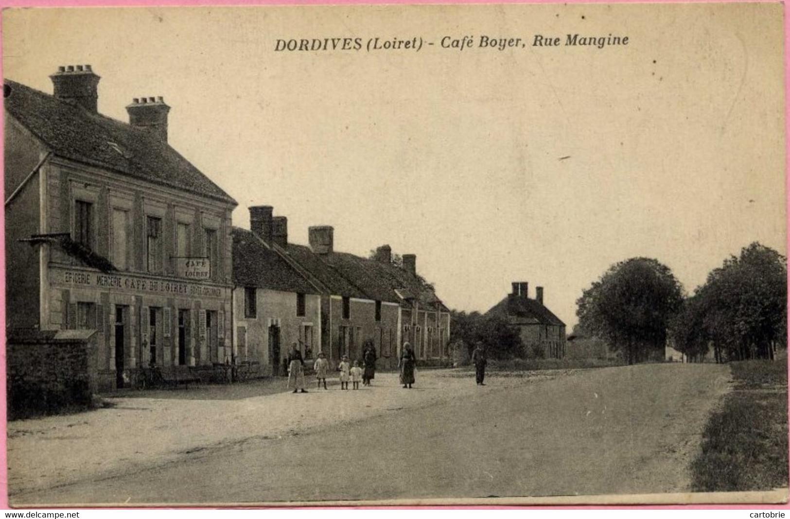 CAFE Du LOIRET Dordives Café Boyer, Rue Mangine  Animée Route Bleue Nationale 7 - Dordives