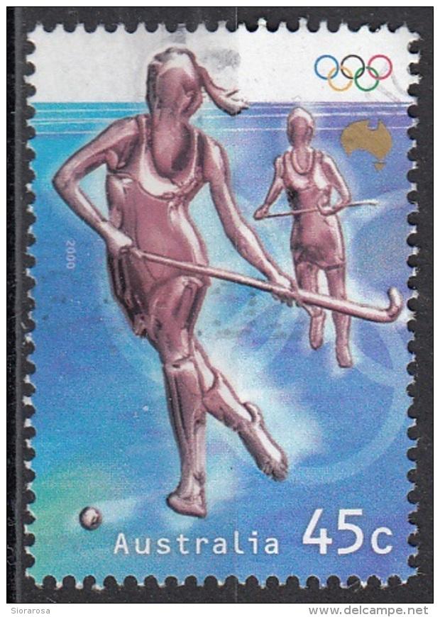 1862b Australia 2000 Sport Olimpici : Women's Field Hockey Viaggiato Used Perf. 14 E 3/4 X 14 - Hockey (su Erba)
