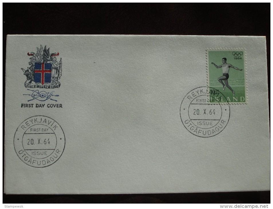 1964 Iceland - Tokyo Summer Olympic Games - Unaddressed FDC (Athletics) - Summer 1964: Tokyo