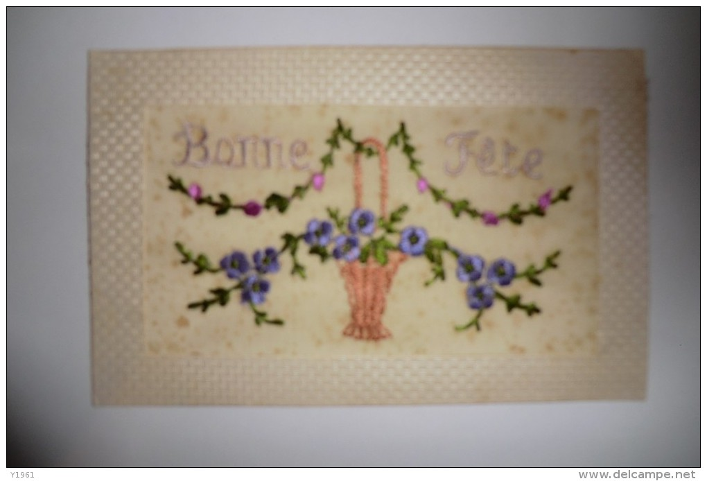 CPA BRODEE 1920 1930. Brodée, Bonne Fête. - Brodées