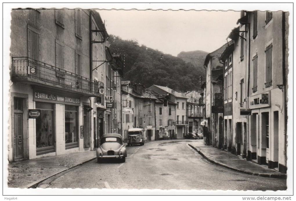 CPSM 48 : VILLEFORT - 72673 - Avenue Des Cevennes - Ed.Cellard à Bron - Commerces - Auto - Villefort