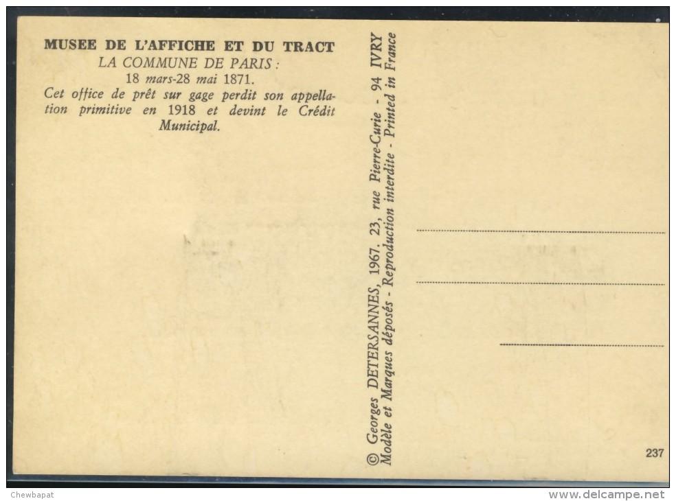 Mont De Piété - 18 Mars - 28 Mai 1871 - Crédit Municipal - Paris By Night