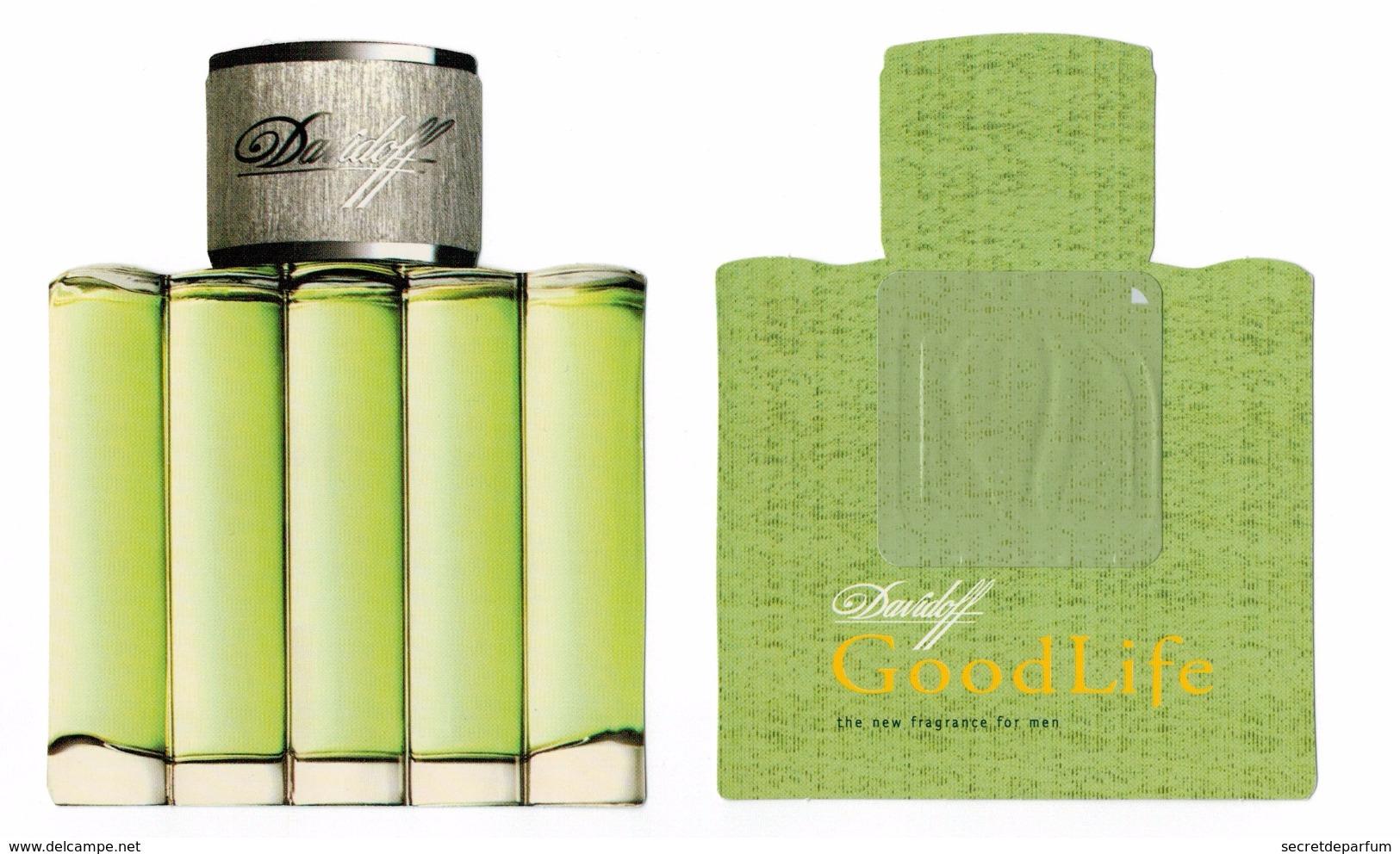 Cartes Parfumées Carte GOOD LIFE DAVIDOFF RÉPLIQUE FLACON LIQUATOUCH - Cartes Parfumées