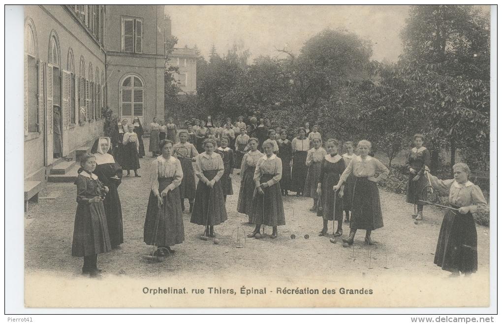 EPINAL - Orphelinat, Rue Thiers - Récréation Des Grandes - Epinal