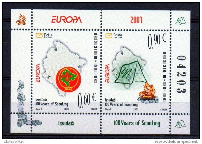 (4170L) MONTENEGRO : Sc# 159 MNH S/S VF EUROPA CEPT 2007 - 2007