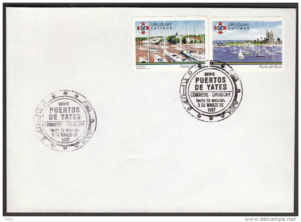 Uruguay 1997 / Tourism / Ports / Sailing Boats - Holidays & Tourism