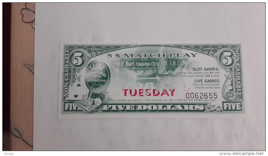 U.s.a-casino International-5$ Match Play-(tuesday)-u.n.c - Casino Cards