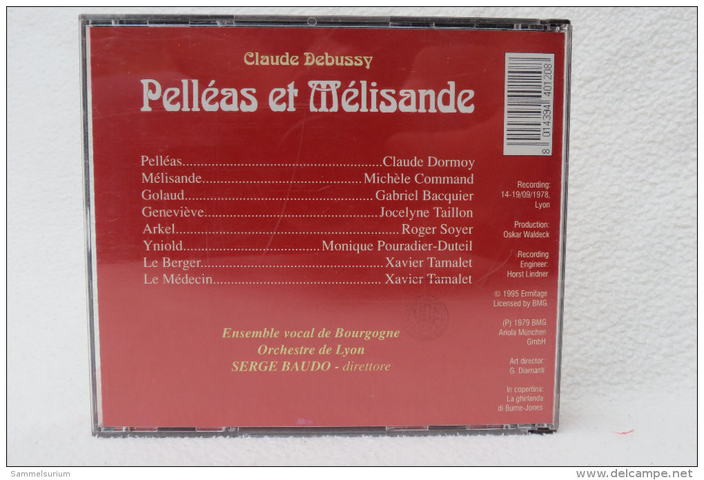 "3 CDs ""Claude Debussy"" Oper Pelléas Et Mélisande, Serge Baudo - Oper & Operette"