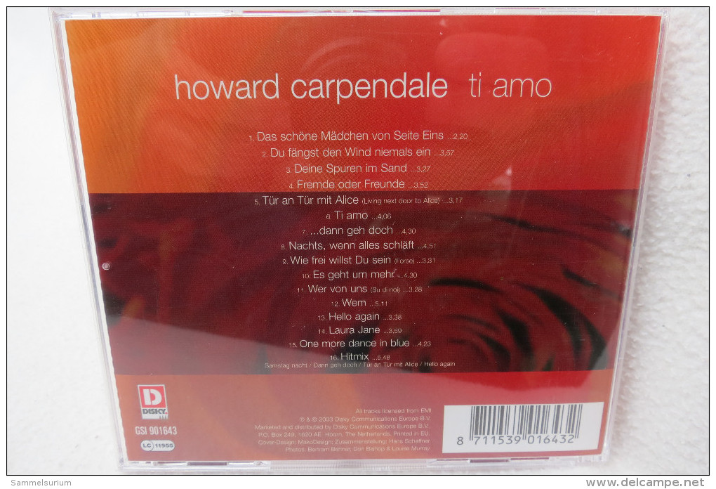 "CD ""Howard Carpendale"" Ti Amo - Hit-Compilations"