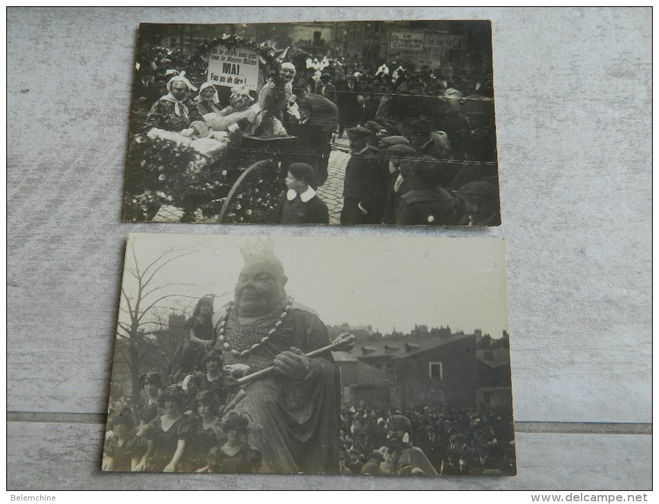 LOT DE 2 CARTE PHOTOS QUI DOIVENT REPRESENTER LE CARNAVAL DE NANTES - Nantes