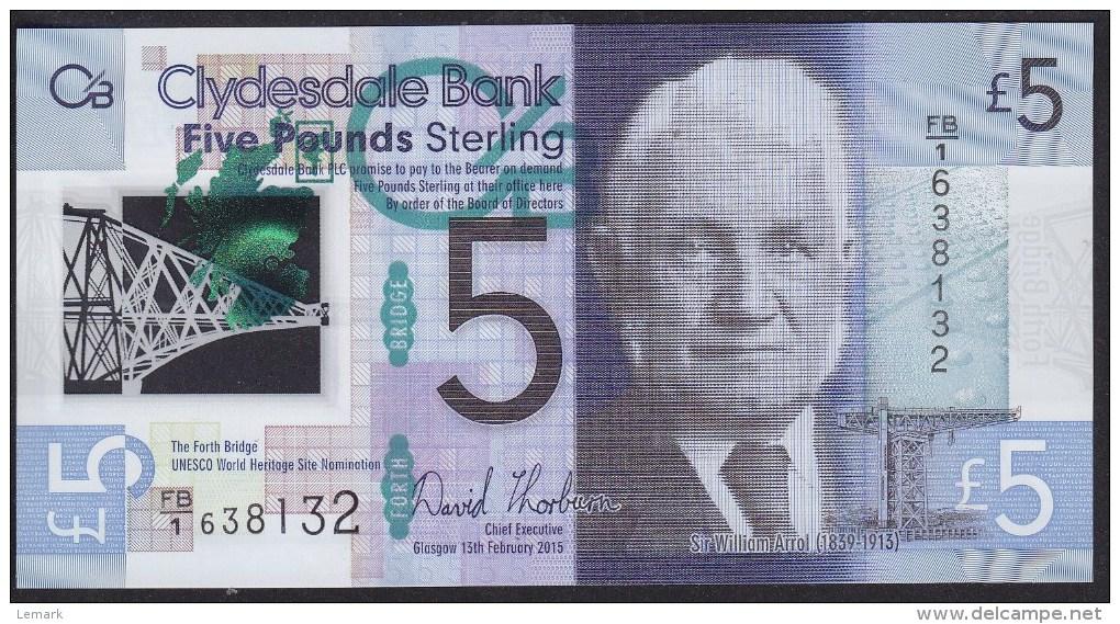 Scotland 5 Pound 2015 Pnew UNC - [ 3] Scotland