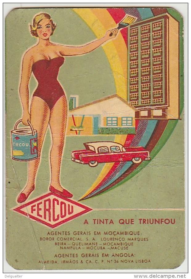 Calendar - 1961 - Fercou - Tintas (Algumas Dobras) - Calendriers