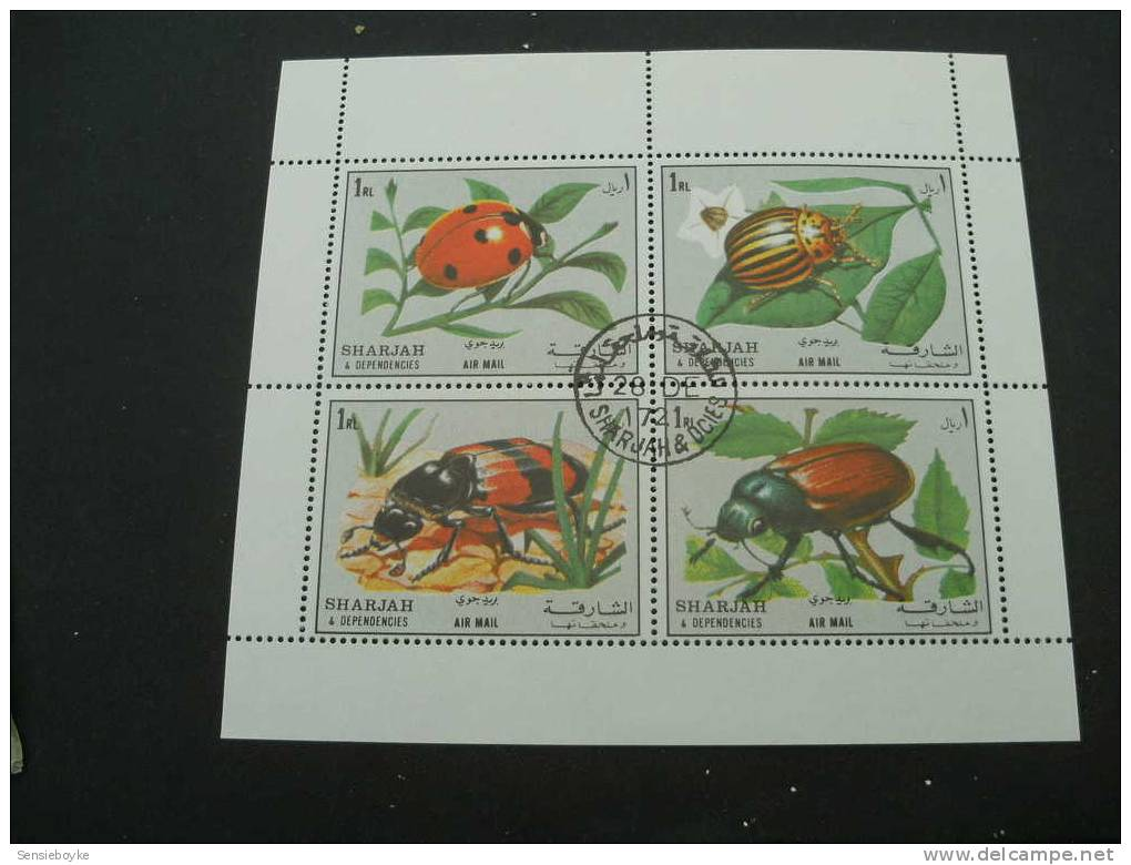 BG79-  Bloc   Used Sharjah Beetles - Insectes