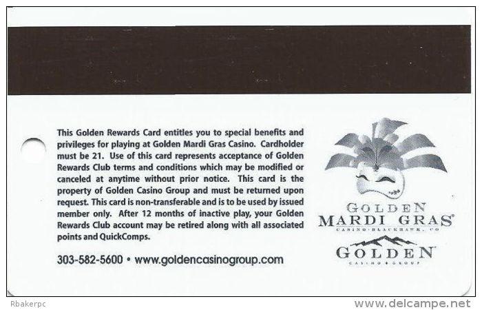 Golden Mardi Gras Casino - Black Hawk, CO - Slot Card - Last Line Text Starts ´points...´ - Casino Cards