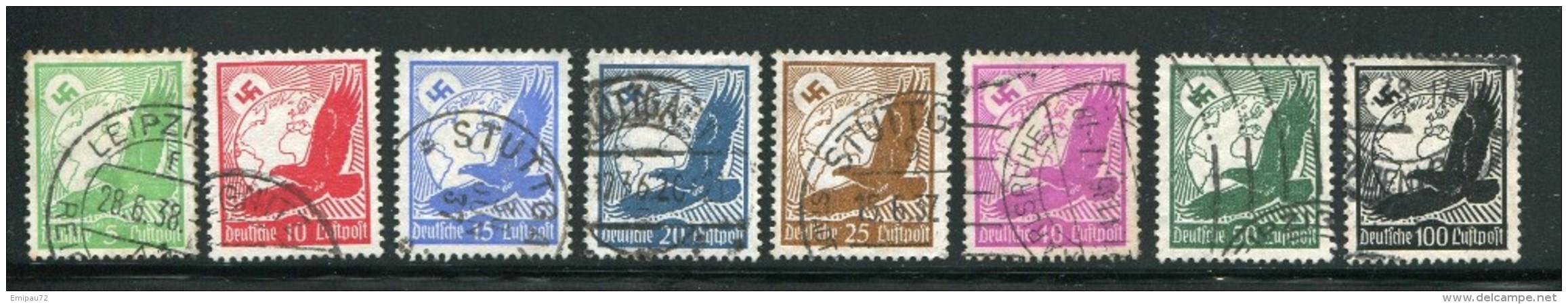 ALLEMAGNE- EMPIRE- P.A Y&T N°43 à 49 + 51- Oblitérés - Poste Aérienne