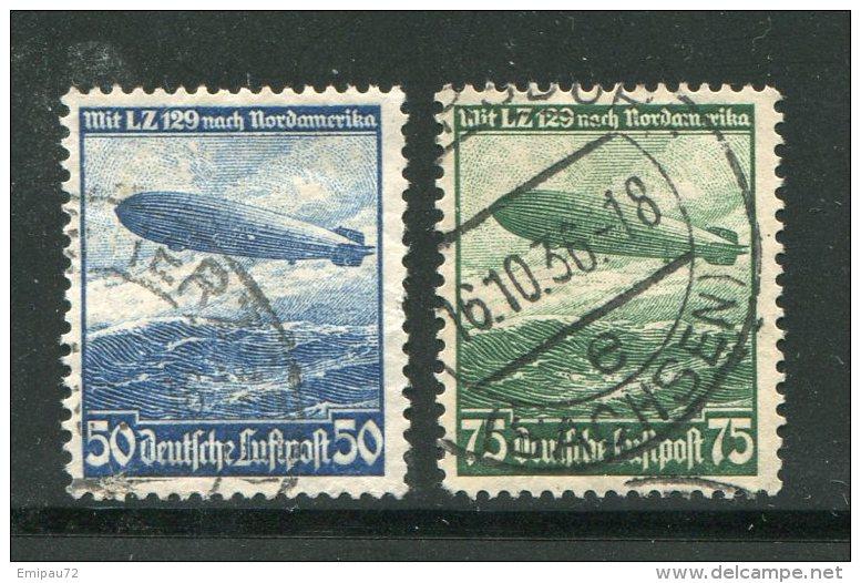 ALLEMAGNE- EMPIRE- P.A Y&T N°55 Et 56- Oblitérés - Poste Aérienne