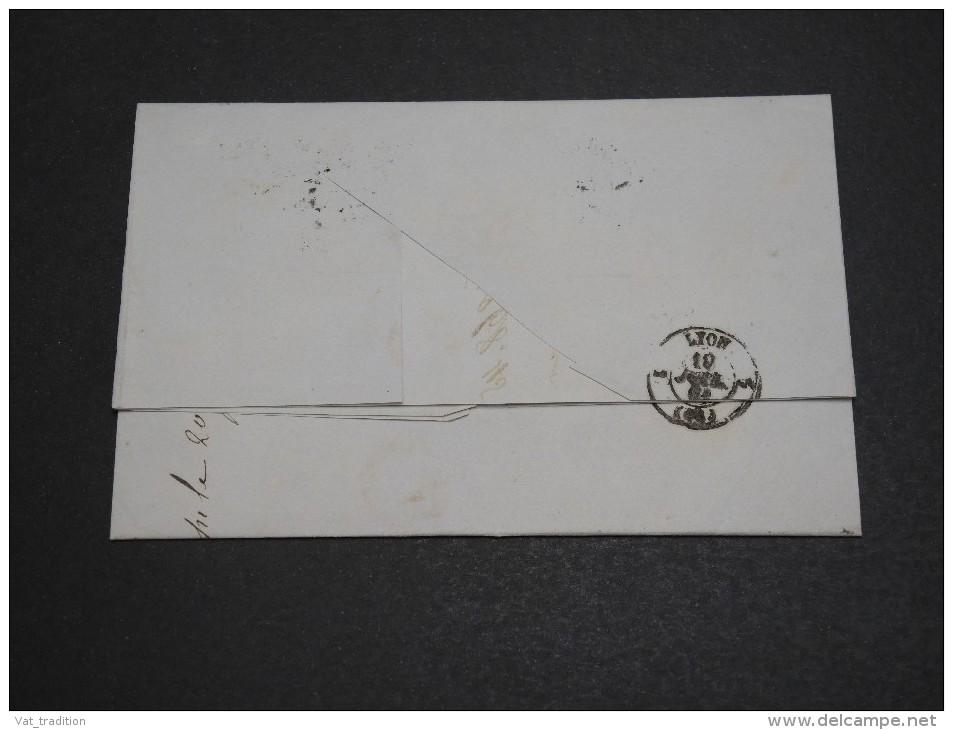FRANCE - Lettre De Paris Pour Lyon, Affranchissement Napoléon - A Voir - L  3801 - Marcophilie (Lettres)