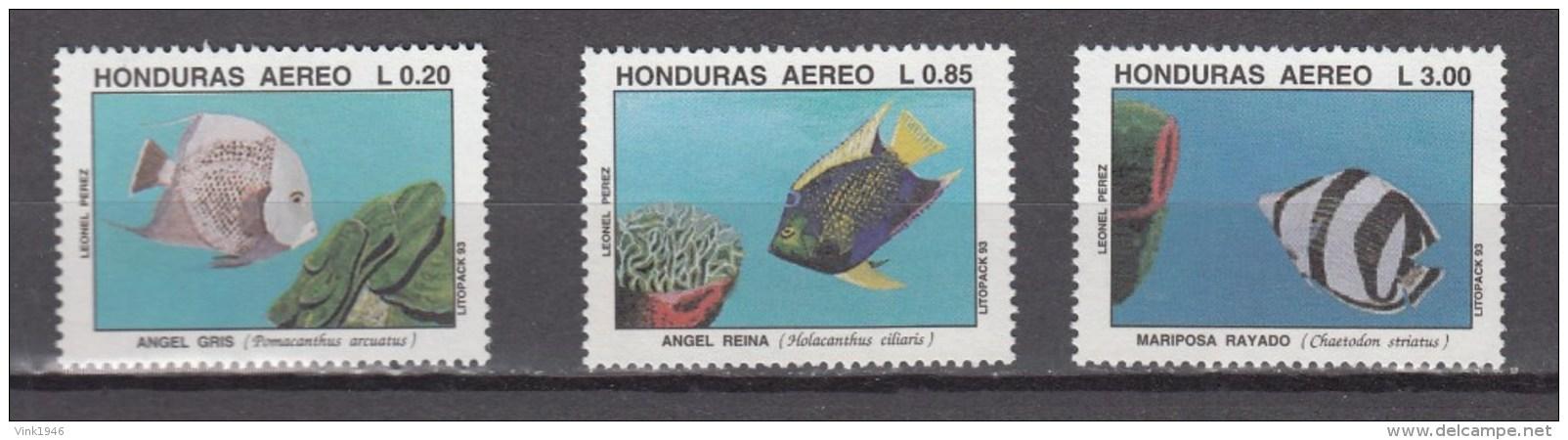 Honduras 1993,3V,set,fish,vissen,fische,poissons,peche,peces,pesce,MNH/Postfris(A2836 - Fische