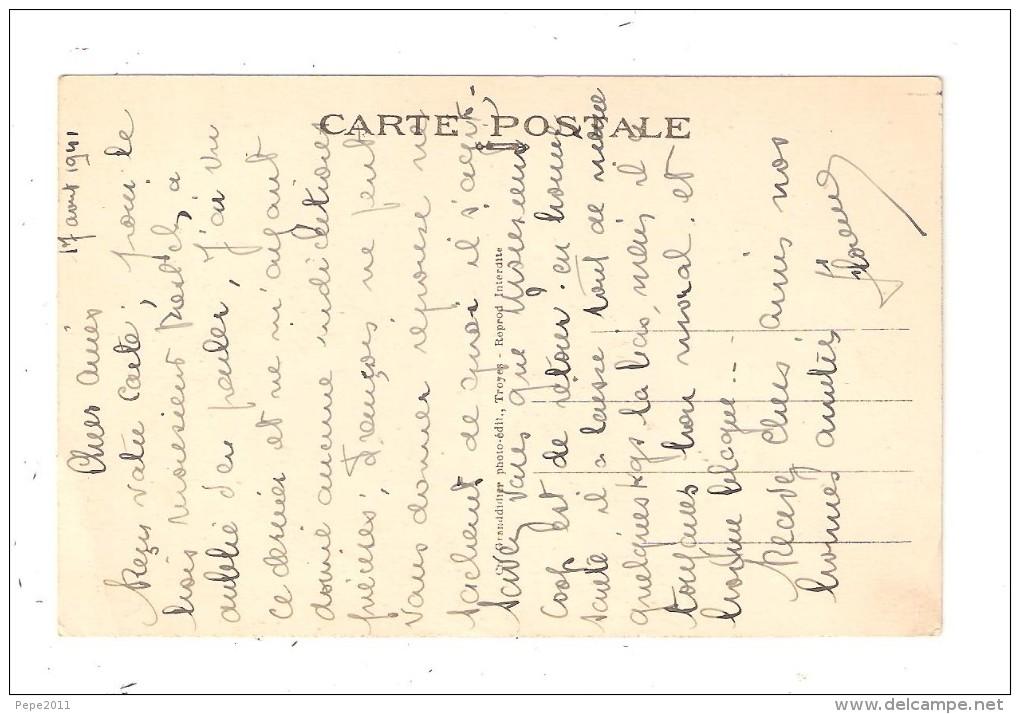 CPA 10 ESSOYES Vue Générale Route Arborée Champ Ville Edifice Religieux 1941 ( Envoi )  Vue Peu Commune - Essoyes