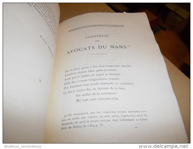 SANHEDRIN DES AVOCATS DU MANS  Satire Rédigée Lors De Leur Exclusion De L'Hôtel De Ville En 1765  LOUIS BRIERE 1876 - Pays De Loire