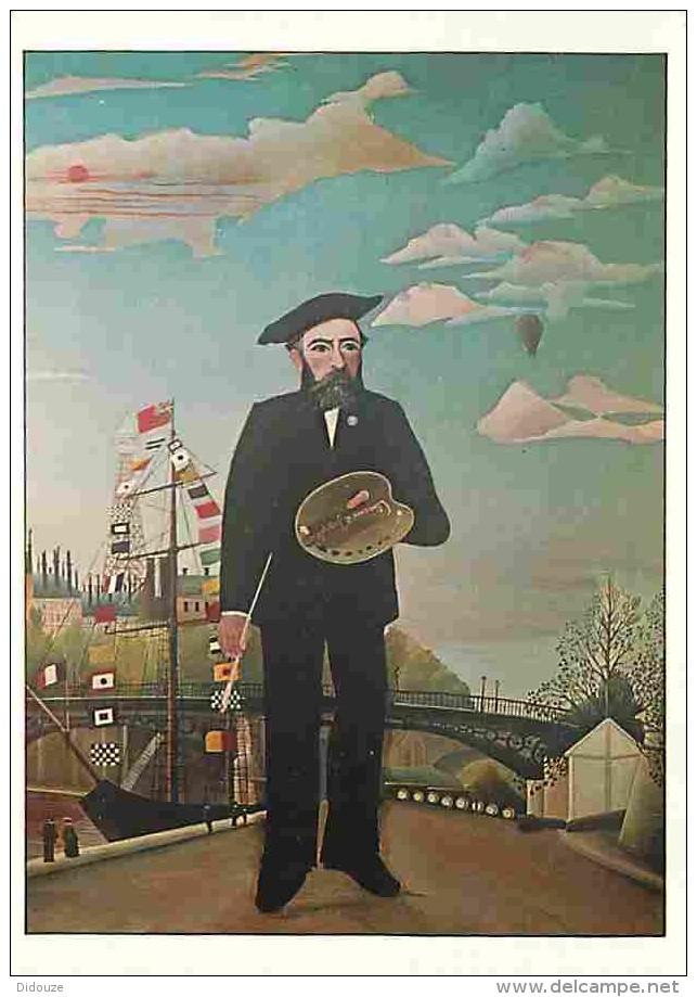 Art - Peinture - Henri Rousseau Dit Le Douanier - Moi-meme - Portrait-Paysage - Description De L'oeuvre Au Dos - Carte N - Peintures & Tableaux