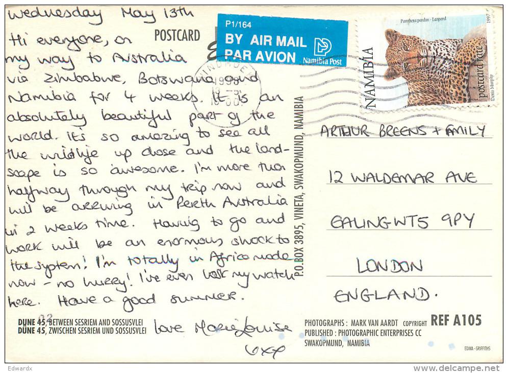 Namib Desert, Namibia Postcard Posted 1998 Stamp - Namibie