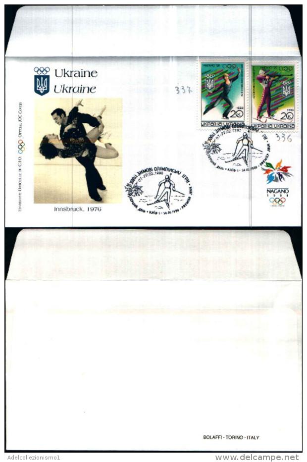 83786) Ucraina-FDC Giochi Olimpici D'inverno A Nagano-serie Completa 14-2-1998 - Ukraine