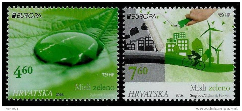 Croatia 2016 Europa CEPT, Think GREEN, Environment, Bicycle, Set MNH - 2015